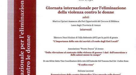 29 NOVEMBRE 2019 – GIORNATA INTERNAZIONALE PER L'ELIMINAZIONE DELLA VIOLENZA CONTRO LE DONNE